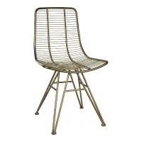 Wire brass dining chair