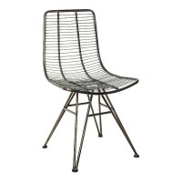 Wire metal black dining chair